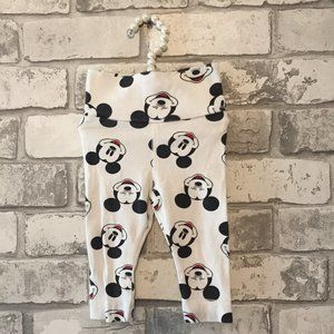 Baby Girl's Mickey Mouse Leggings Size 2-4 Months